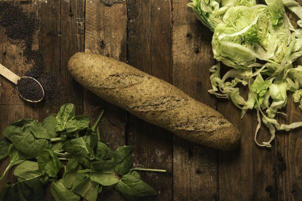 Pan de fibra verde
